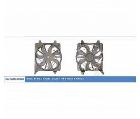 Fan Motoru Davlumbazlı Accent I 1 3 1 5 1 6 1996 1999 120W 312Mm 2535022200